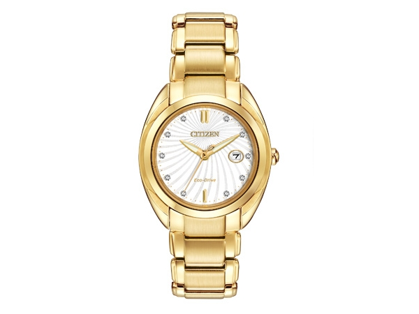 Citizen Eco-Drive Watch - Lady's Yellow Basemetal Dress Citizen Eco-Drive Watch