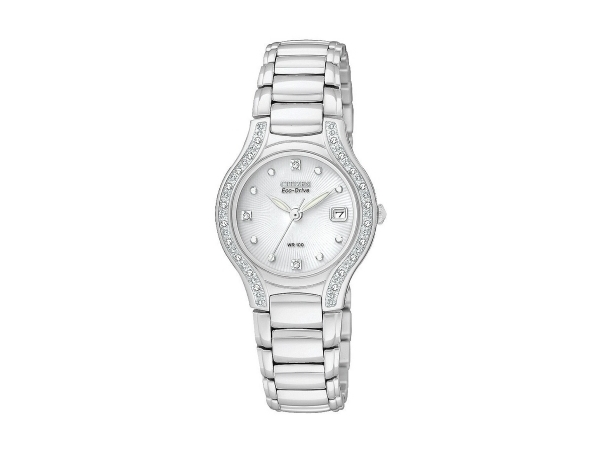 Citizen Eco-Drive Watch - Lady's Silver Stainless Steel Dress Citizen Eco-Drive Watch