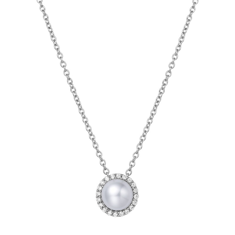 Necklace - Sterling Silver Fresh Water Pearl Necklace
