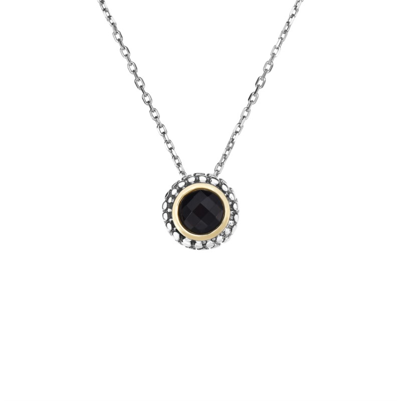 Necklace - Sterling & 18Kt Black Onyx Necklace