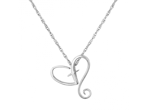 Necklace - Sterling Silver Heart Necklace