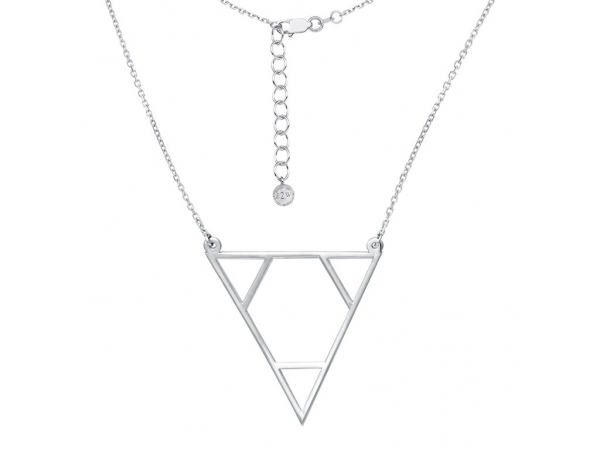 Necklace - Sterling Silver Triforce Triangle Necklace