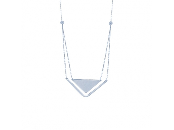 Necklace - Sterling Silver Stability & Balance Necklace