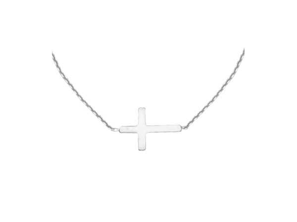 Necklace - Sterling Silver Cross Necklace