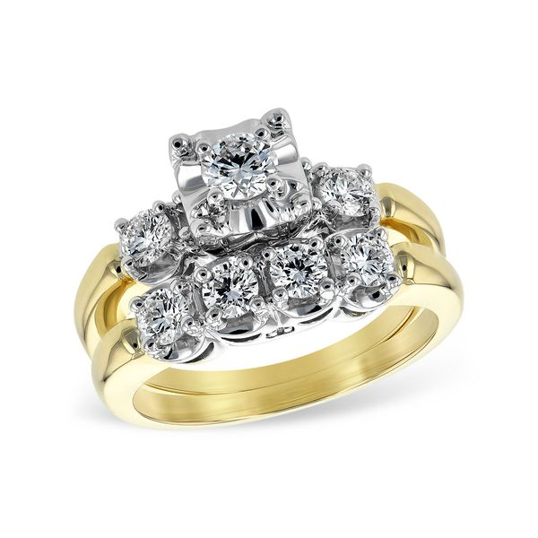 14KT Gold Two-Piece Wedding Set Clater Jewelers Louisville, KY