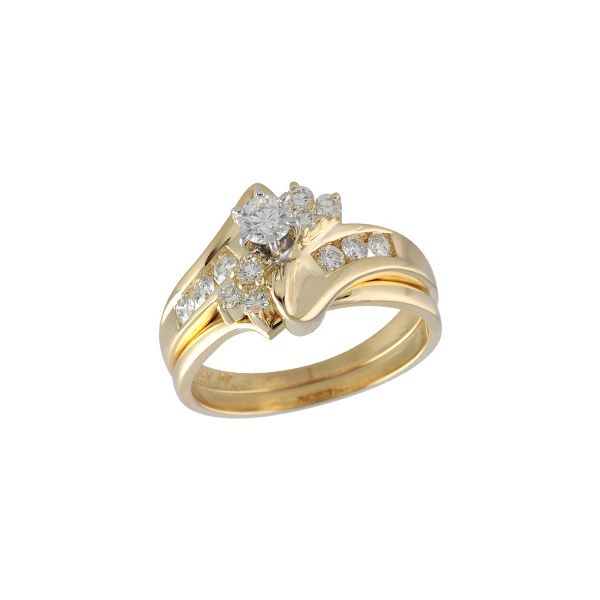 14KT Gold Two-Piece Wedding Set The Stone Jewelers Boone, NC