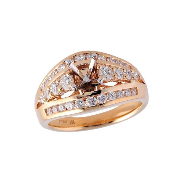 14KT Gold Semi-Mount Engagement Ring Clater Jewelers Louisville, KY