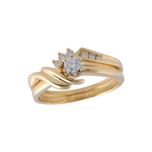 14KT Gold Two-Piece Wedding Set Diamond Shop Ada, OK