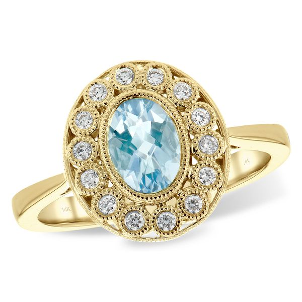 14KT Gold Ladies Diamond Ring Blue Heron Jewelry Company Poulsbo, WA