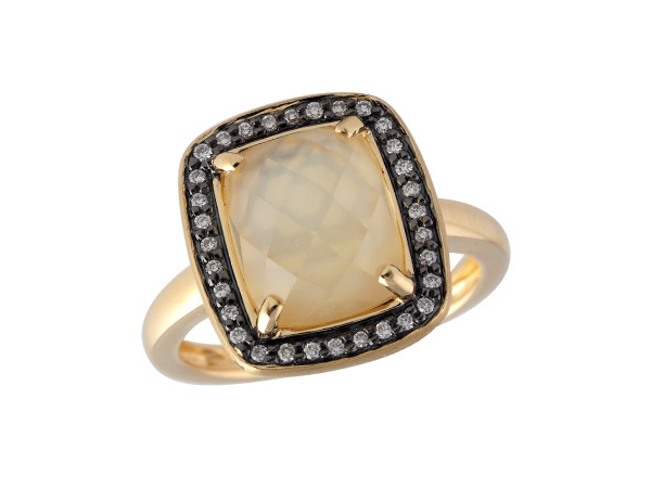 14KT Gold Ladies Diamond Ring - LDS RG 2.85 CITRINE 2.97 TGW