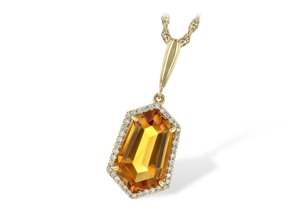 14KT Gold Necklace - NECK 3.66 CITRINE 3.80 TGW