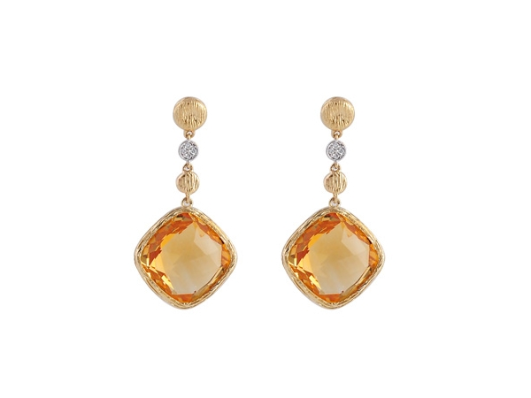 14KT Gold Earrings - EARR 13.07 CITRINE 13.10 TGW