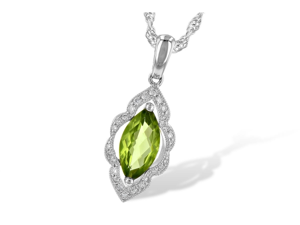 14KT Gold Necklace - NECK .94 PERIDOT 1.06 TGW