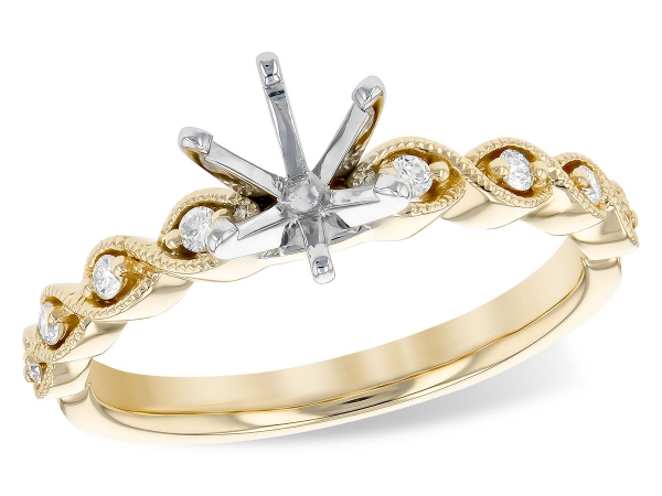14KT Gold Semi-Mount Engagement Ring by Allison Kaufman