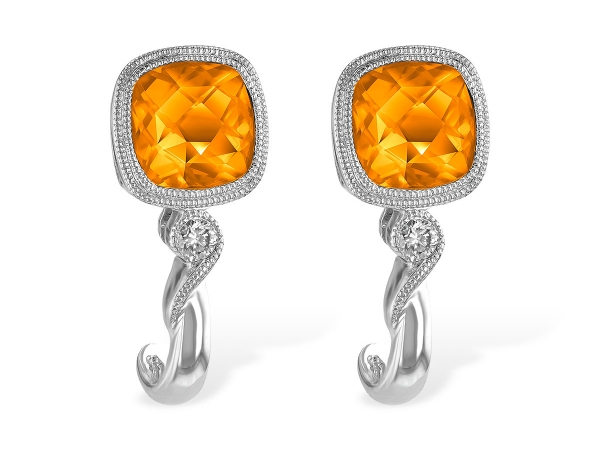 14KT Gold Earrings - EARR 1.62 CITRINE 1.66 TGW