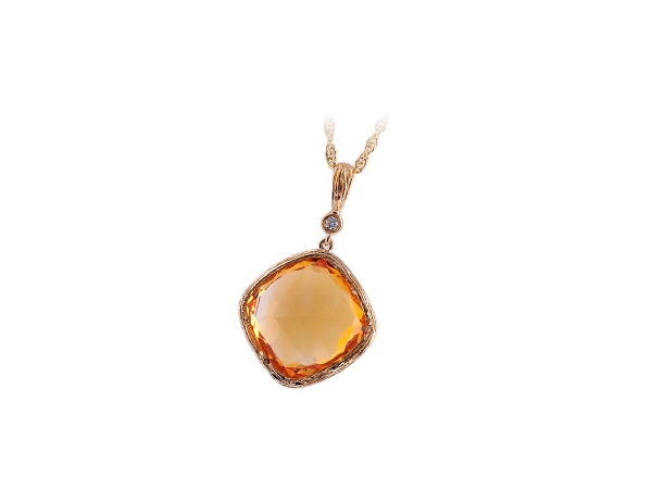 14KT Gold Necklace - NECK 8.82 CITRINE 8.84 TGW
