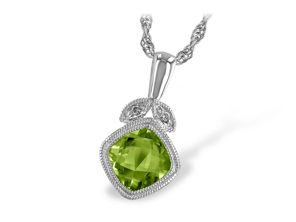 14KT Gold Necklace - NECK 1.01 PERIDOT 1.02 TGW
