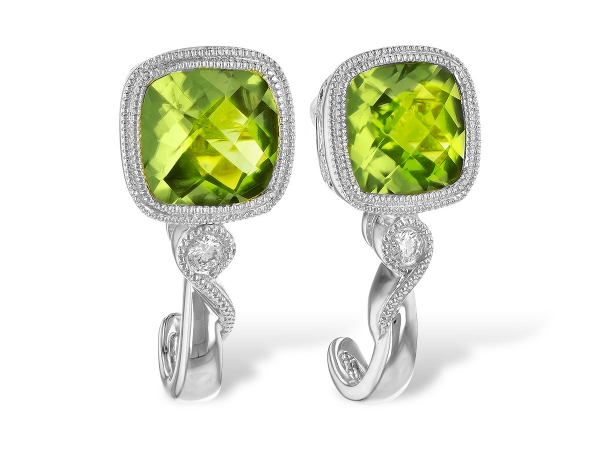 14KT Gold Earrings - EARR 2.00 PERIDOT 2.05 TGW