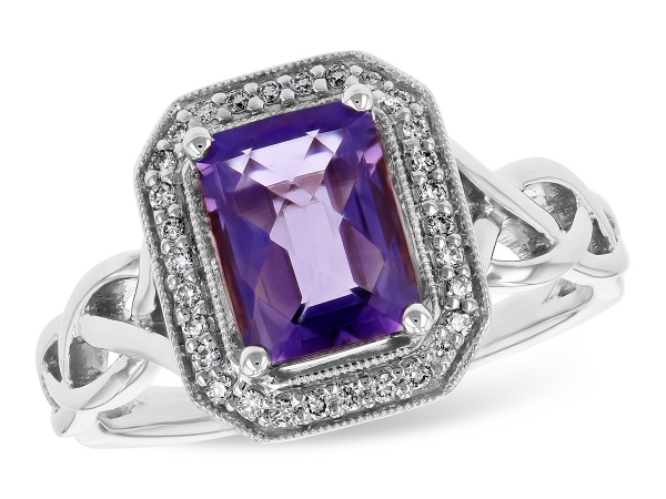 14KT Gold Ladies Diamond Ring - LDS RG 1.42 AMETHYST 1.53 TGW
