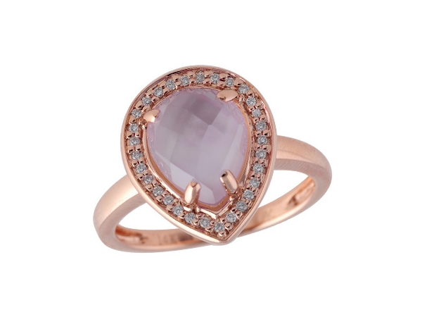 14KT Gold Ladies Diamond Ring - LDS RG 2.28 AMETHYST 2.36 TGW