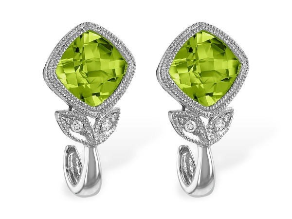 14KT Gold Earrings - EARR 1.92 PERIDOT 1.94 TGW