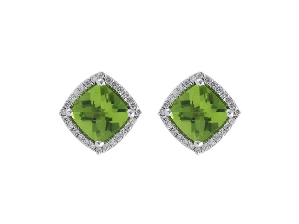 14KT Gold Earrings - EARR 1.89 PERIDOT 2.04 TGW