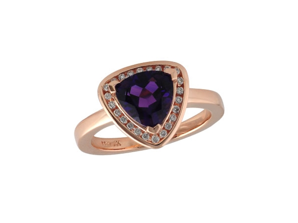 14KT Gold Ladies Diamond Ring - LDS RG 1.38 AMETHYST 1.52 TGW