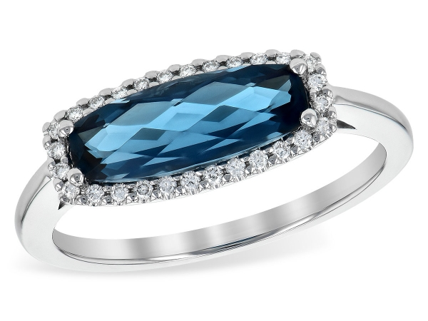 LDS RG 1.79 LONDON BLUE TOPAZ 1.90 TGW