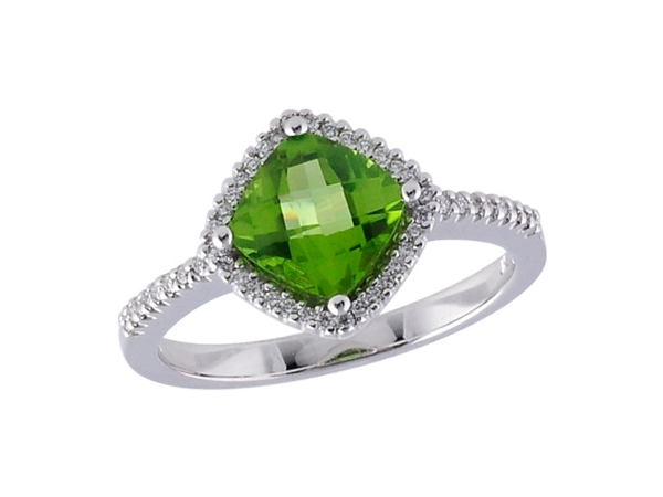 14KT Gold Ladies Diamond Ring - LDS RG 1.58 PERIDOT 1.74 TGW