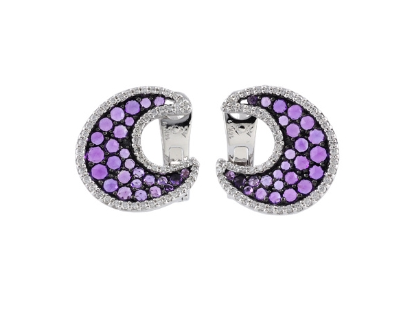 14KT Gold Earrings - EARR .92 AMETHYST 1.29 TGW