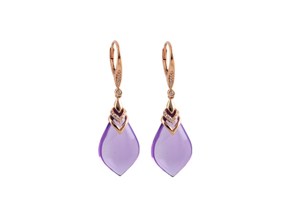 14KT Gold Earrings - EARR 20.85 AMETHYST 20.97 TGW