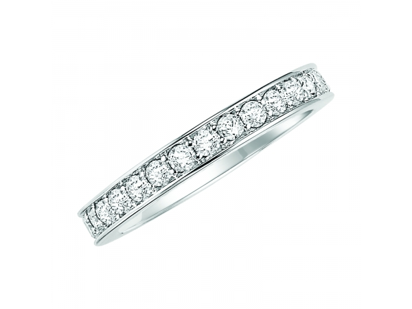 14K White Gold Anniversary Band by ArtCarved