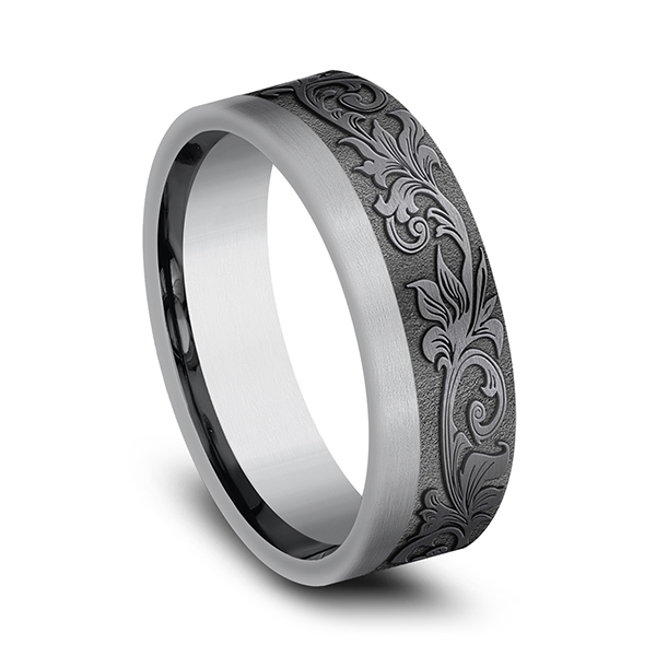 Tantalum Comfort-fit wedding band Image 2 Simones Jewelry, LLC Shrewsbury, NJ