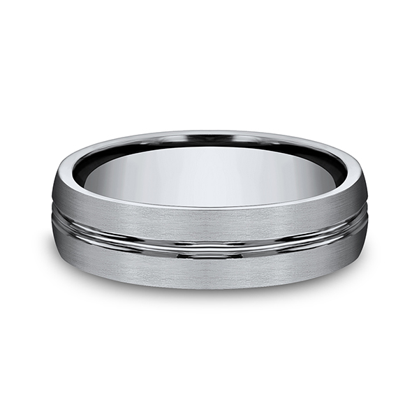 Titanium Comfort-Fit Design Wedding Band Image 3  ,
