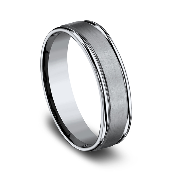 Titanium Comfort-Fit Design Wedding Band Image 2  ,