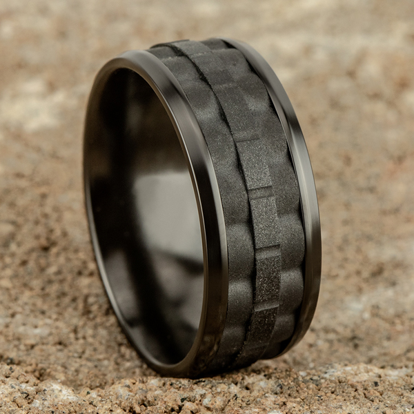 Black Titanium Comfort-fit Design Wedding Band Image 4 Godwin Jewelers, Inc. Bainbridge, GA