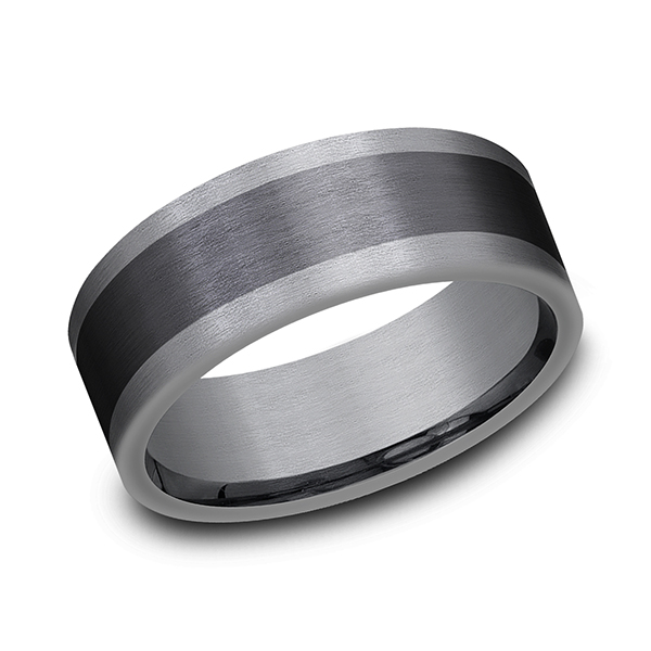 Tantalum and Black Titanium Comfort-fit Design Wedding Band Lake Oswego Jewelers Lake Oswego, OR