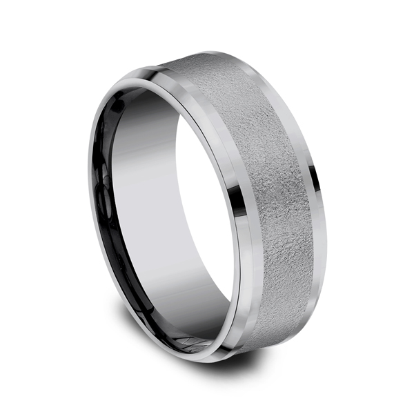 Grey Tantalum Comfort-Fit wedding band Image 2 Simones Jewelry, LLC Shrewsbury, NJ