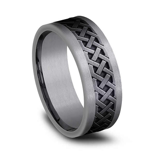 Tantalum and Black Titanium Comfort-fit Design Wedding Band Image 2 Confer's Jewelers Bellefonte, PA