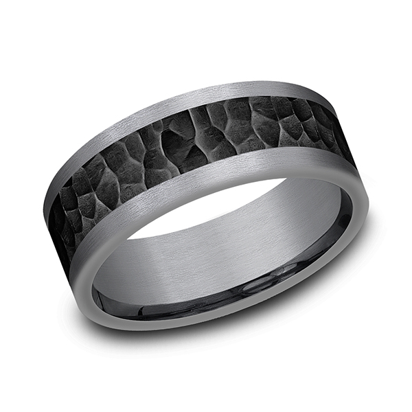 Tantalum and Black Titanium Comfort-fit Design Wedding Band Confer's Jewelers Bellefonte, PA