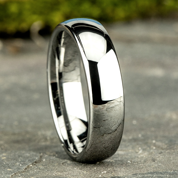 Tungsten Comfort-Fit Design Wedding Band Image 4 Rick's Jewelers California, MD