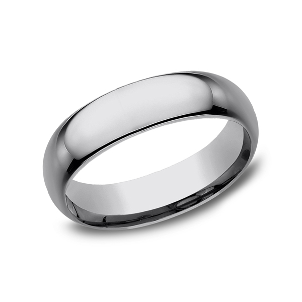 Tungsten Comfort-Fit Design Wedding Band Rick's Jewelers California, MD
