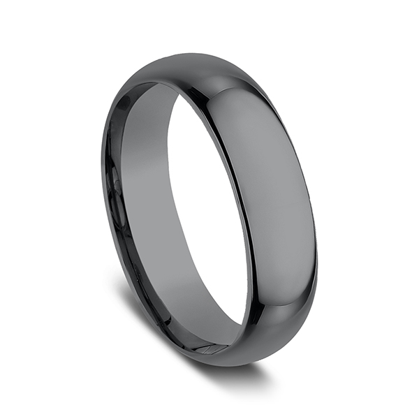 Wedding Bands - Tantalum Comfort-fit Design Wedding Band - image 2
