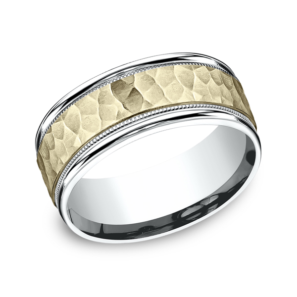 Two Tone Comfort-Fit Design Wedding Ring Timmreck & McNicol Jewelers McMinnville, OR
