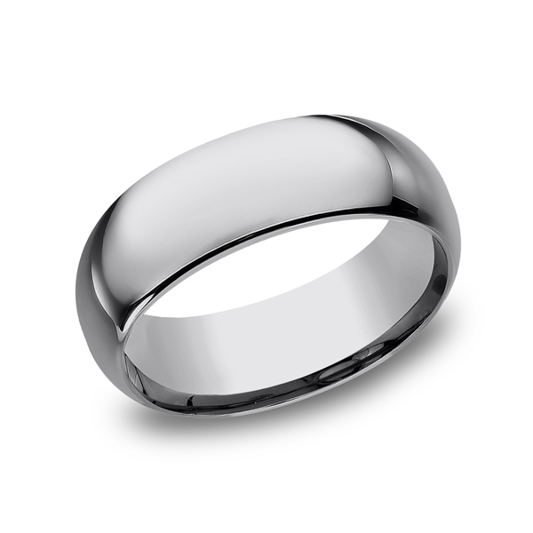 Tungsten Comfort-Fit Design Wedding Band Arezzo Jewelers Chicago, IL