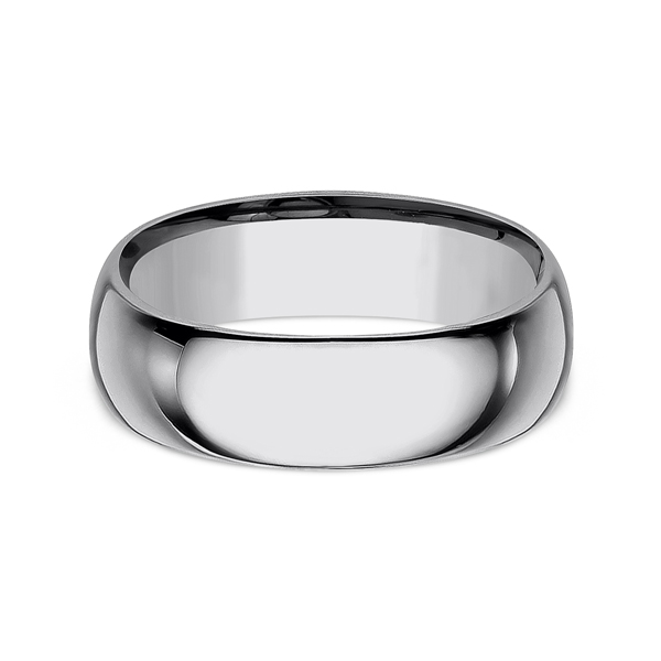 Tungsten Comfort-Fit Design Wedding Band Image 3 Timmreck & McNicol Jewelers McMinnville, OR
