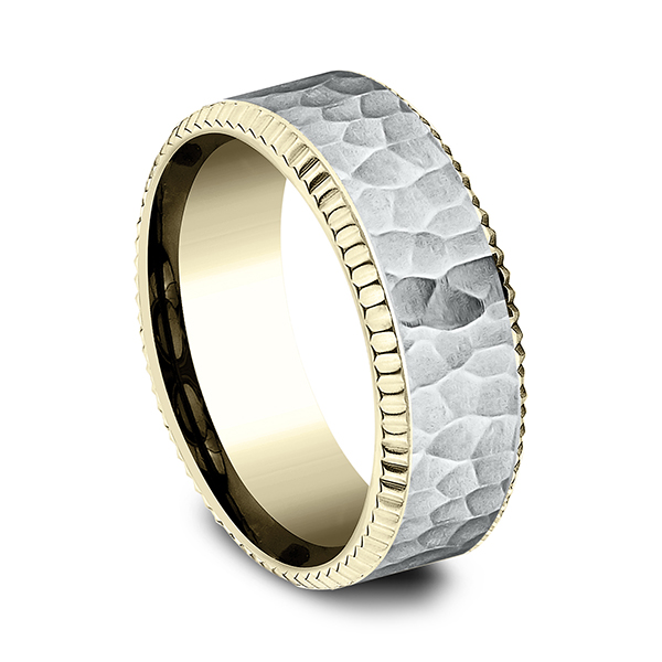 Two Tone Comfort-Fit Design Wedding Ring Image 2 Confer's Jewelers Bellefonte, PA