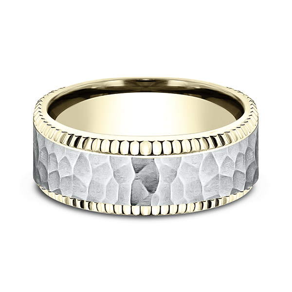 Two Tone Comfort-Fit Design Wedding Ring Image 3 Confer's Jewelers Bellefonte, PA