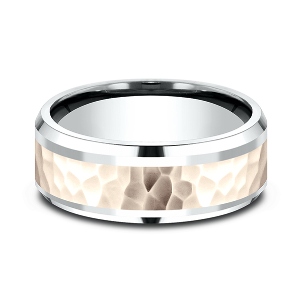 Two Tone Comfort-Fit Design Wedding Ring Image 3 Timmreck & McNicol Jewelers McMinnville, OR