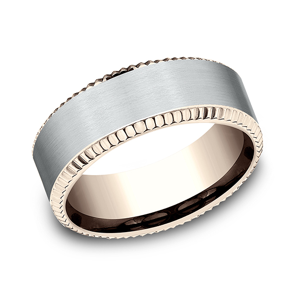 Two Tone Comfort-Fit Design Wedding Ring Cowardin's Jewelers Richmond, VA